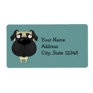 Big Nose Pug Label