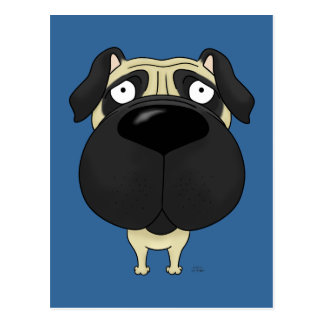 Big Nose Pug Postcard