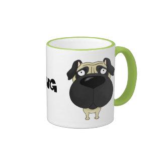 Big Nose Pug Ringer Mug