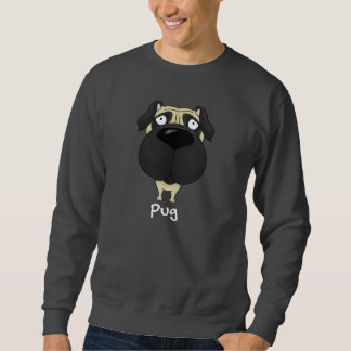 Big Nose Pug Sweatshirt