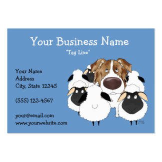 Big Nose Red Merle Australian Shepherd Large Business Cards (Pack Of 100)
