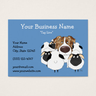 Big Nose Red Merle Australian Shepherd Business Card
