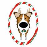 Big Nose Smooth Collie Christmas Ornament Photo Sculpture Ornament