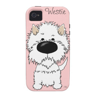 Big Nose Westie Vibe iPhone 4 Case