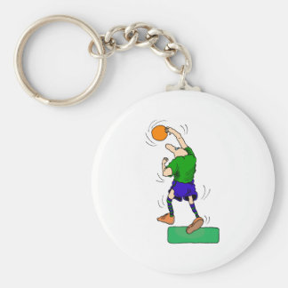big nosed basketball guy basic round button keychain