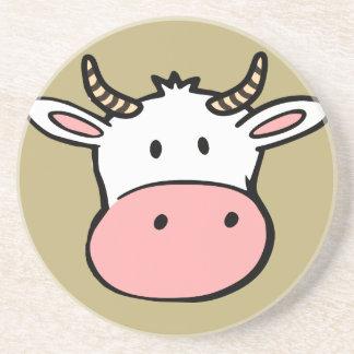 Big nosed cartoon cow coaster