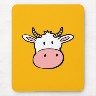 Big nosed cartoon cow mouse pad