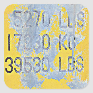 Big Numbers Square Sticker