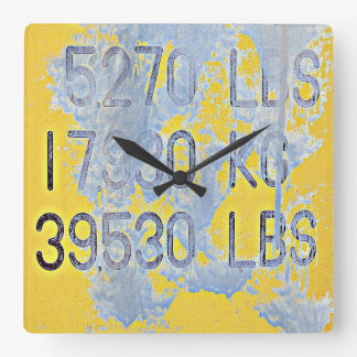 Big Numbers Square Wall Clock
