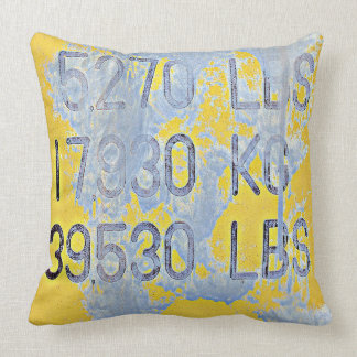 Big Numbers Throw Pillow