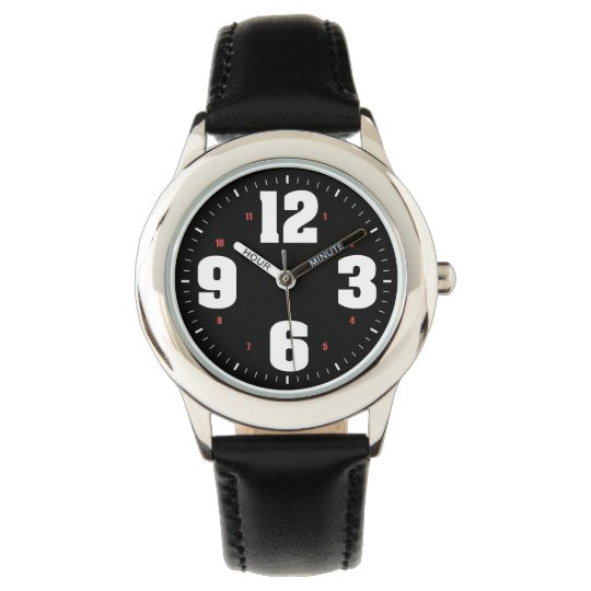 Big Numbers White Watches