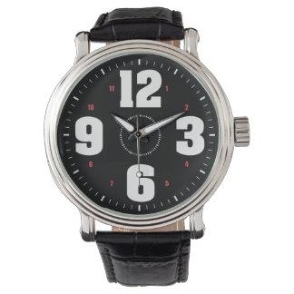 Big Numbers White Wrist Watch