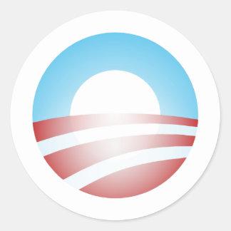 Big O Barack Obama Logo Classic Round Sticker