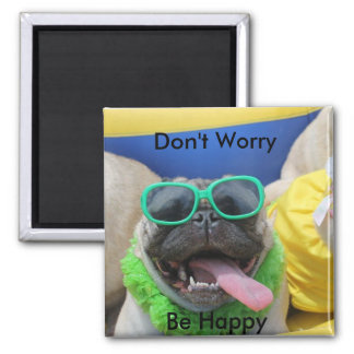 Big O Don't Worry 2 Inch Square Magnet