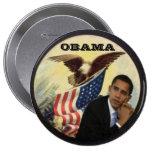 Big Obama Eagle Flag Button