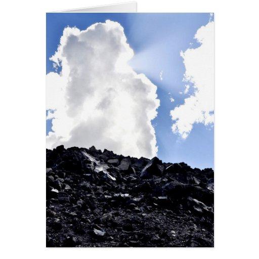 Big Obsidian Flow Greeting Card