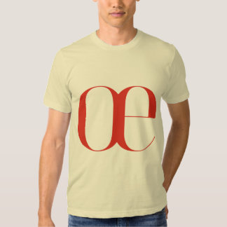 Big oe: Jeanne Moderno Lettres T-shirt
