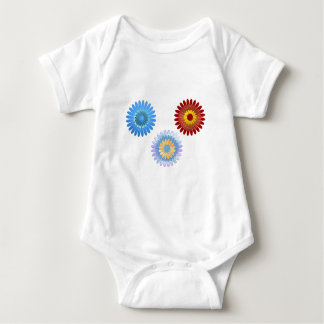 Big of beautiful colorful flowers baby bodysuit