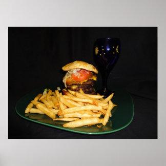Big Ol' Cheese Burger & Fries Poster