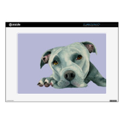17' Laptop Skin for Mac & PC with Bull Terrier Phone Cases design