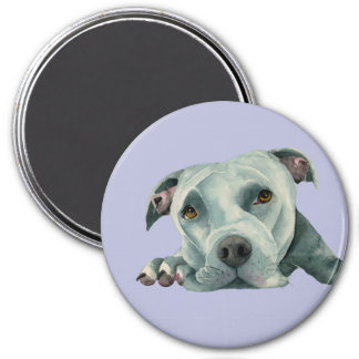 Big Ol' Head - Pit Bull Dog Watercolor Painting Magnet