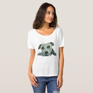 Big Ol' Head - Pit Bull Dog Watercolor Painting T-Shirt