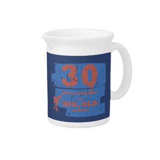 Big, Old 30 Blue Drink Pitchers