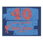 Big, Old 40 Blue Postcard