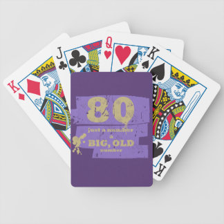 Big, Old 80 Purple Bicycle Playing Cards
