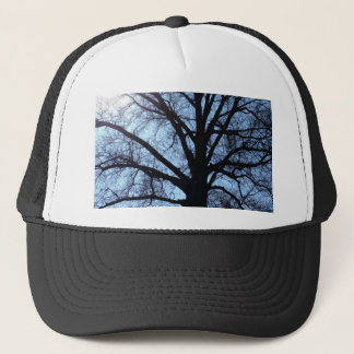 Big Old Aged Tree, Blue Sky, Sunshine Photograph Trucker Hat