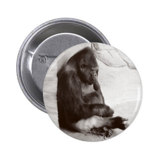 Big Old Silver Back Pinback Button