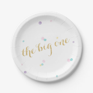 Big One First Birthday Paper Plates