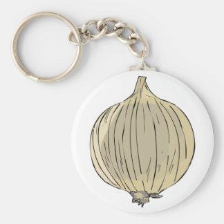 Big Onion Basic Round Button Keychain