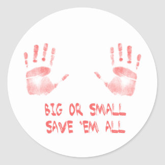 Big or Small Classic Round Sticker