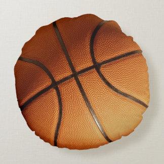 Big_Orange_Basketball,_Full_Print,_Round_Cushion. Round Pillow