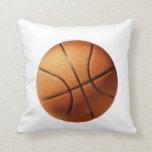 Big Orange Basketball Lounge Cushion Throw Pillows