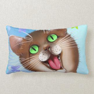 Big Orange Cat close up. Lumbar Pillow