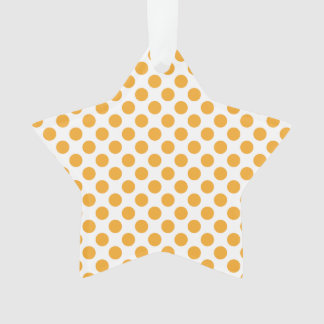 Big Orange Dots on White