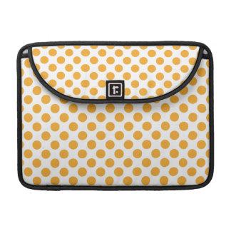 Big Orange Dots on White MacBook Pro Sleeve