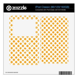 Big Orange Dots on White Skin For The iPod