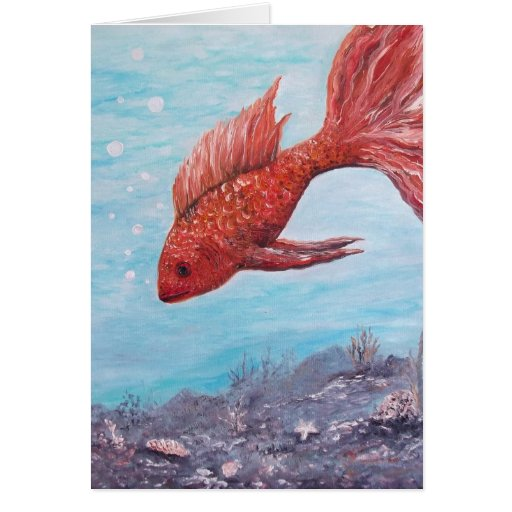 BIG ORANGE FISH CARD