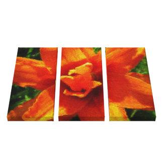 Big Orange Flower Canvas Print