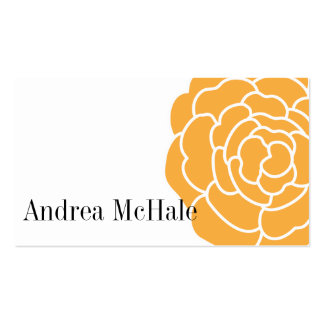 Big Orange Flower Stylish Business Card