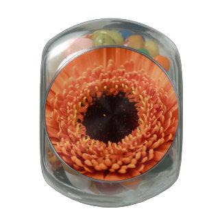 Big Orange Gerbera Daisy Jelly Belly Candy Jar