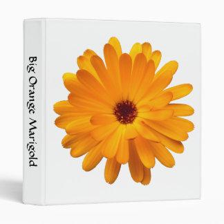Big Orange Marigold (1in) 3 Ring Binder