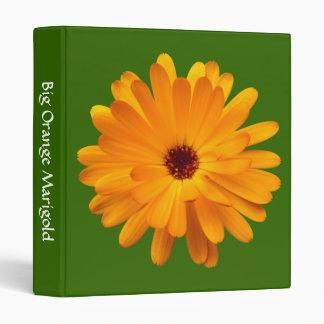 Big Orange Marigold (1in) - Green 336600 3 Ring Binder