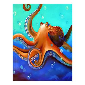 Big Orange Octopus Zazzle Letterhead