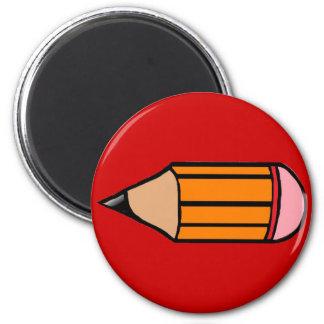Big Orange Pencil 2 Inch Round Magnet