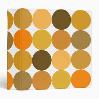 Big Orange Polka Dots Binder