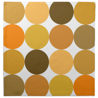 Big Orange Polka Dots Cloth Napkin